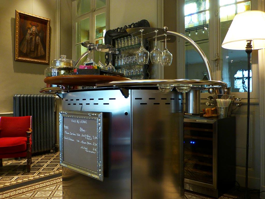 Le bar à vin de l'Hotel d'Europe et d'Angleterre à Mâcon