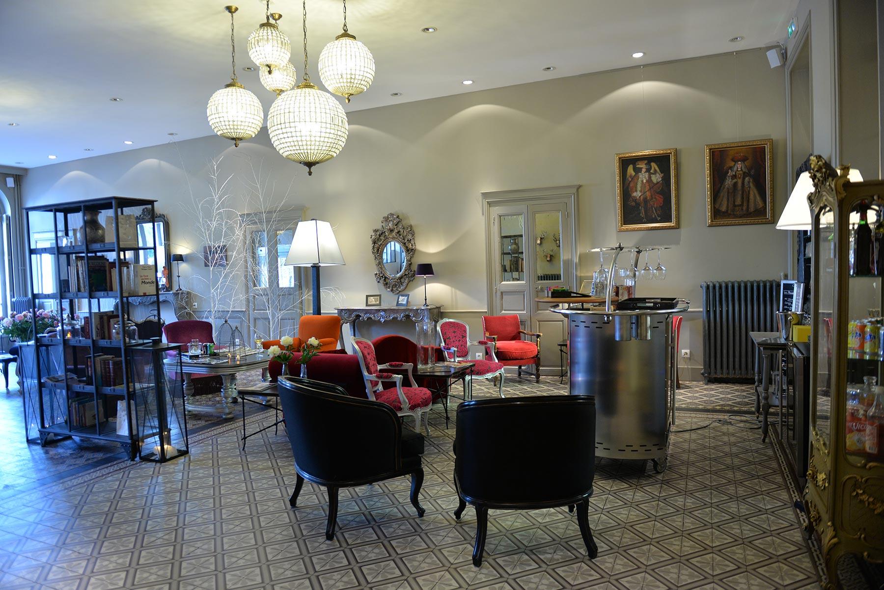 Hotel d'Europe et d'Angleterre à Mâcon, Bourgogne du Sud - Le bar