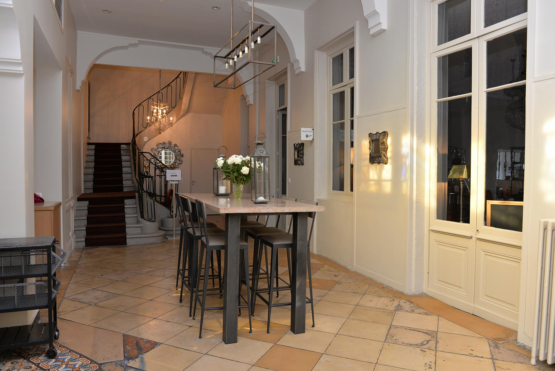 Hotel d'Europe et d'Angleterre à Mâcon, Bourgogne du Sud - La salle à manger