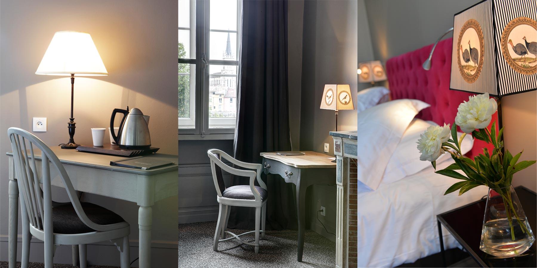 Hotel d'Europe et d'Angleterre à Mâcon, les chambres