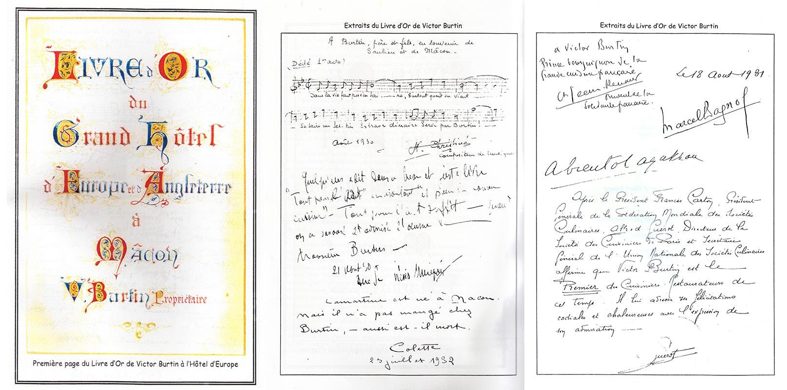 Le livre d'Or de Victor BURTIN