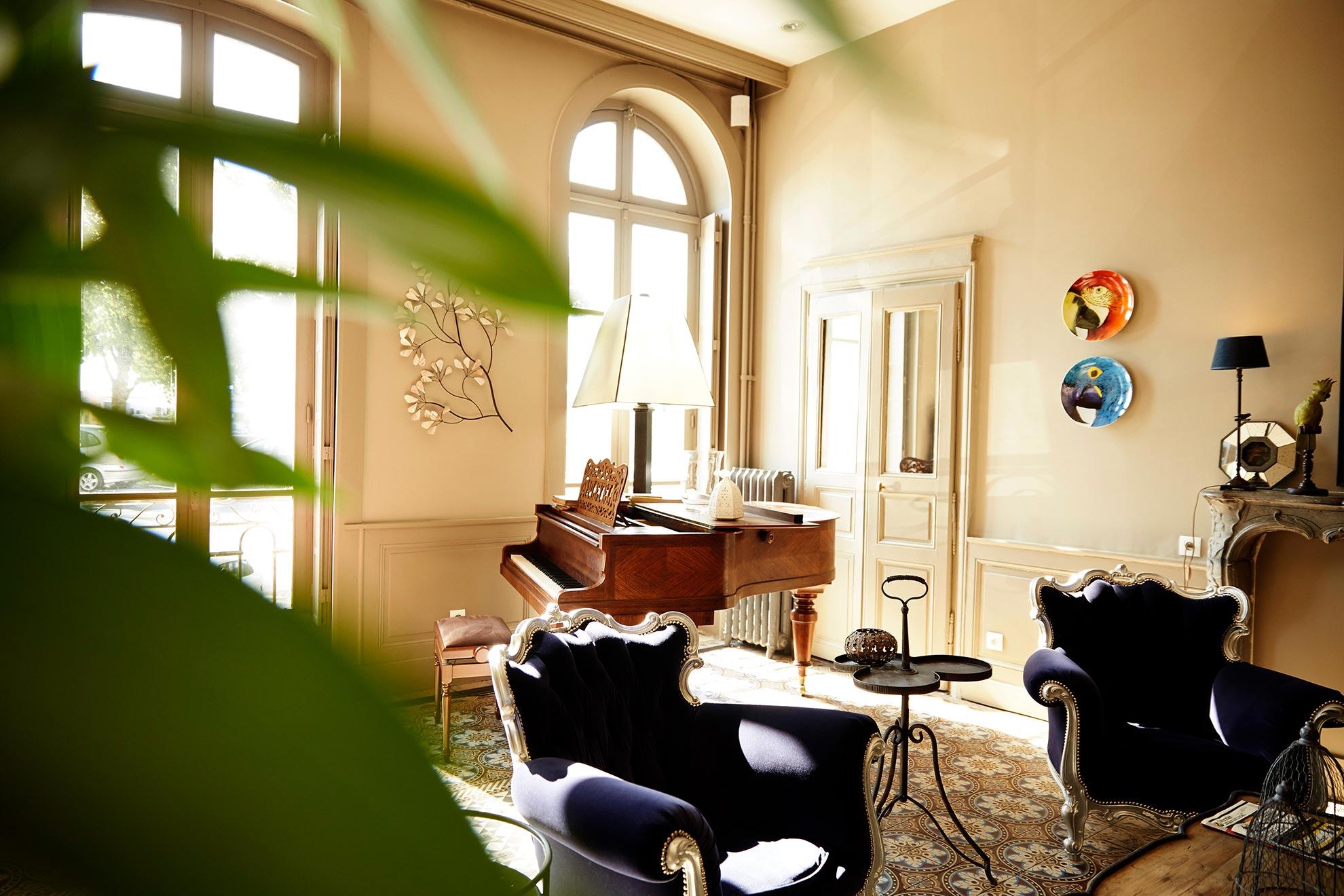 Le Piano de l'hotel d'Europe et d'Angleterre à Macon